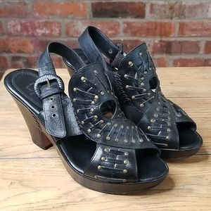 Frye Sandals Leather Studded Size 8